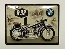 BMW Motorcycles R32 - Tin Metal Wall Sign