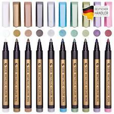 Marker Stifte METALLIC 10 Farben permanent wasserfest Brush Pen Fotoalbum DIY