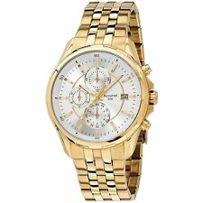 Accurist Men's Fashion Chronograph Gold Bracelet Watch MB933S