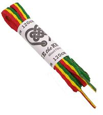 Shoe Laces Rasta Pair of Flat 120cm For Trainers, Leisure Shoes