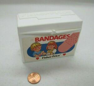 Fisher Price BAND AID BANDAGE BOX Medical Kit Doctor Nurse Kids Play Bandages
