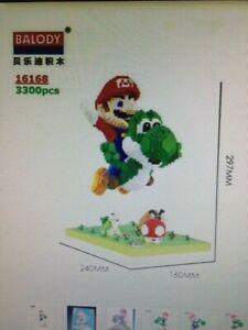 Super Mario + Yoshi+goomba+mushroom, Building Blocks