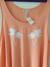 VICTORIA'S SECRET PINK Vest Top - Size M - BNWT - Peach / Palm Tree