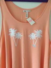 Victoria's Secret PINK Débardeur-Taille M-Bnwt-Pêche/Palm Tree