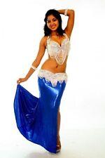 Professional Bellydance Belly Dance Bellydancing Blue Lycra Skirt 10539