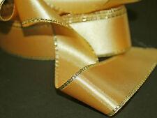 *** GOLD SATIN  - XMAS -  Ribbon - 34mm Wide ***