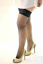 Black Lace Top Fishnet Hold Ups
