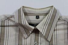 E5706 Eterna Excellent Businesshemd Kurzarm 40 Weiß Beige Schwarz gestreift
