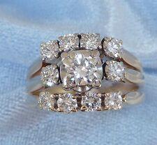 Vintage 14K Yellow Gold Lady's Ring, TCW 1.18 Carat, Size 5.75 Written Appraisal