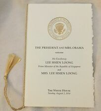SINGAPORE WHITE HOUSE PRES OBAMA Official PROGRAM PM  LEE HSEIN LOONG + USA FLAG