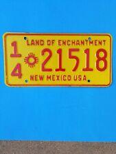 1960s 70s New Mexico license plate, Valencia county, 21518