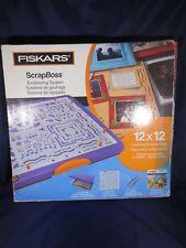 NEW- Fiskars ScrapBoss 12 x 12 Tray Craft Embossing - COMPLETE--MSRP- $69.99