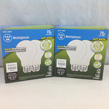 Westinghouse 36801 72W Soft White Dimmable Halogen Bulb 120V 1600 Lumen Lot of 2