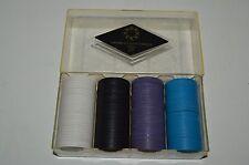 Vintage Casino Quality Checks Poker Chips w/ Case Box Doubling Cube NY BULL Rare