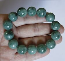 Genuine Certified Natural (Grade A) Untreated Green Jadeite JADE Bracelet #Br436
