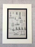 1880 Antico Stampa Scientific Diagramma Inizio Elettricità Apparato Macchine