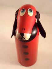 Ancien jouet bois tirelire enfant Made in France Vilac ? années 60 chien basset