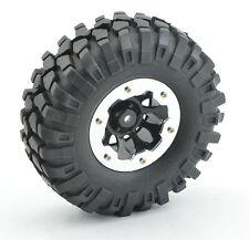 4Set RC 108mm Soft Crawler Tires w/ 1.9'' Beadlock Rims for 1/10 Axial SCX10 D90