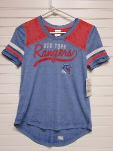 New York Rangers Youth Girls Shirt Size M 10/12 NWT Sample Flaw Fixed