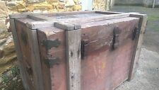 Antique Military Trunk Box Chest Army Military,Table-Theme Pub-Stage Prop