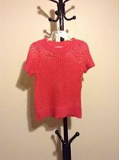 New Maurices women's scoop neck cap sleeve red sweater top size M