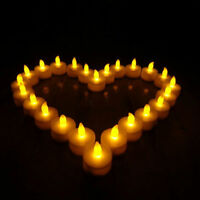 12 Tea Light Flameless LED Candle Flickering Battery Christmas Wedding home