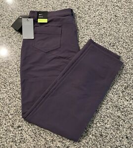 Nike Golf Women's Size 14 Repel Slim Fit Stretch Fabric Pants Purple AT3327