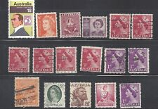 Australia stamps collection of 17 mint and used  澳大邮