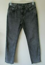 """ALL SAINTS JEANS Vintage GREY Washed Out  MUSE Slim Low Crop W 28"""" NEW"""