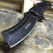 "9"" TAC FORCE Razor Spring Assisted Open Folding Pocket Knife Stonewash New"