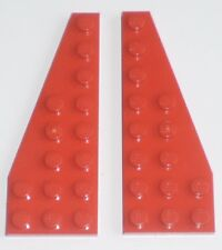 JEU JOUET ENFANT  LEGO * Lot 2 BRIQUES PLATES AILES  3 X 8 - ROUGE  *