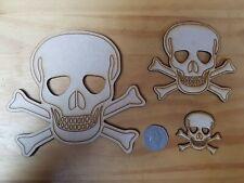 Skull & Cross Bones MDF Craft Shapes Wooden Decoration Embellishment 3 sizes