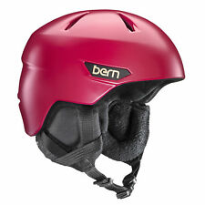 Bern Womens Bristow Ski Snow Helmet Satin Cranberry Large