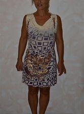 jolie robe violet et doré CHRISTIAN AUDIGIER taille S ** NEUVE ÉTIQUETTE **