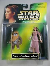Star Wars POTF 2 1997 Princess Leia & Wicket – Green Card – MINMP - Kenner