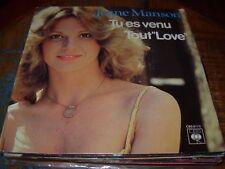 "JEANE MANSON tu es venu / tout love ( world music ) 7""/45 picture sleeve"
