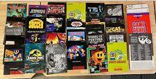 Lot Of 27 Super Nintendo SNES Instruction Manuals plus Poster & Game Genie Books