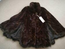 Real vizon Fur Collar Shawl Wrap cloak Scarf Poncho Fur Coat Fashion Beautiful