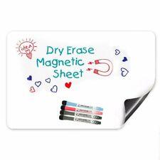 17 x 12 Magnetic Dry Erase White Board For Refrigerator & Kitchen Fridge Planner