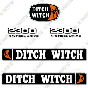 Ditch Witch 2300 Decal Kit Trencher Decal Replacements - 7 YEAR VINYL