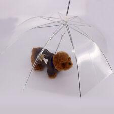 Newest Clear Pet Umbrella PE Plastics Small Dog Umbrella Rain Gear Dog Leads