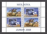 "Moldova 2008 CEPT Europa ""Letter writing"" 4 MNH stamps Booklet"