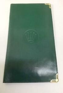 Rolex Wallet Green Gold Unisex Accessories Fashion Not for Sale Limited Rare