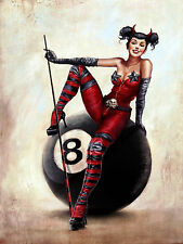 8 Ball Pool Girl, Metal Vintage Sign Bar Pub Club Man Cave Gift Games Room
