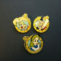 DLR Cast Lanyard Series 4 - Alice Watch Collection 3 Pins ONLY Disney Pin 44529