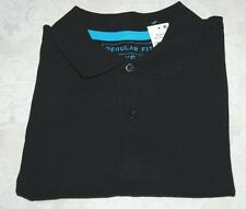 MEN'S SHORT SLEEVE BLACK POLO TOP Size XS Regular Fit,100% Cotton NEW with Tag