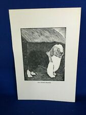 Old English Sheepdog Sheep Dog Book Plate Print