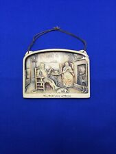 Old Folks At Home *Chipped* Osborne Ivorex Plaque Wall Hanging England