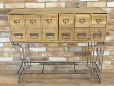 Industrial Style Wood Metal Wire Cabinet Sideboard Chest Of Drawers Cupboard