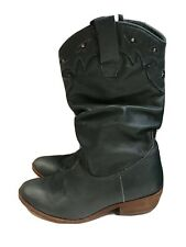 ARRAY BLUE LEATHER  WESTERN BOOTS SIZE 8 -8.5 D